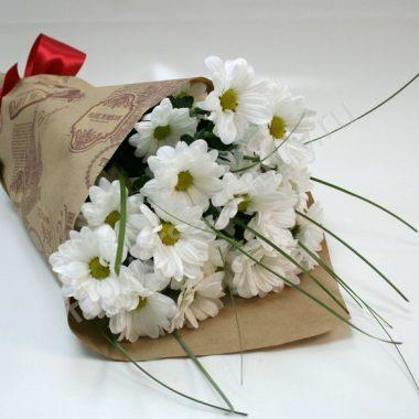Букет из белых хризантем (ромашковых)
