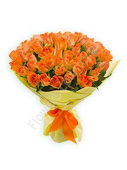 Букет из 51 оранжевой розы