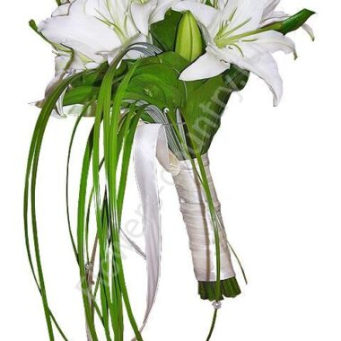 Букет невесты из 9 лилий