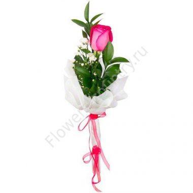 Букет из розы и ромашки