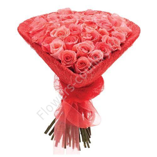 Букет в форме сердца из розы