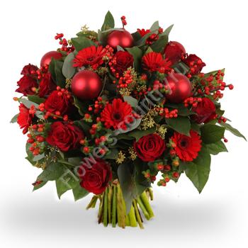 Новогодний букет «Гранат»