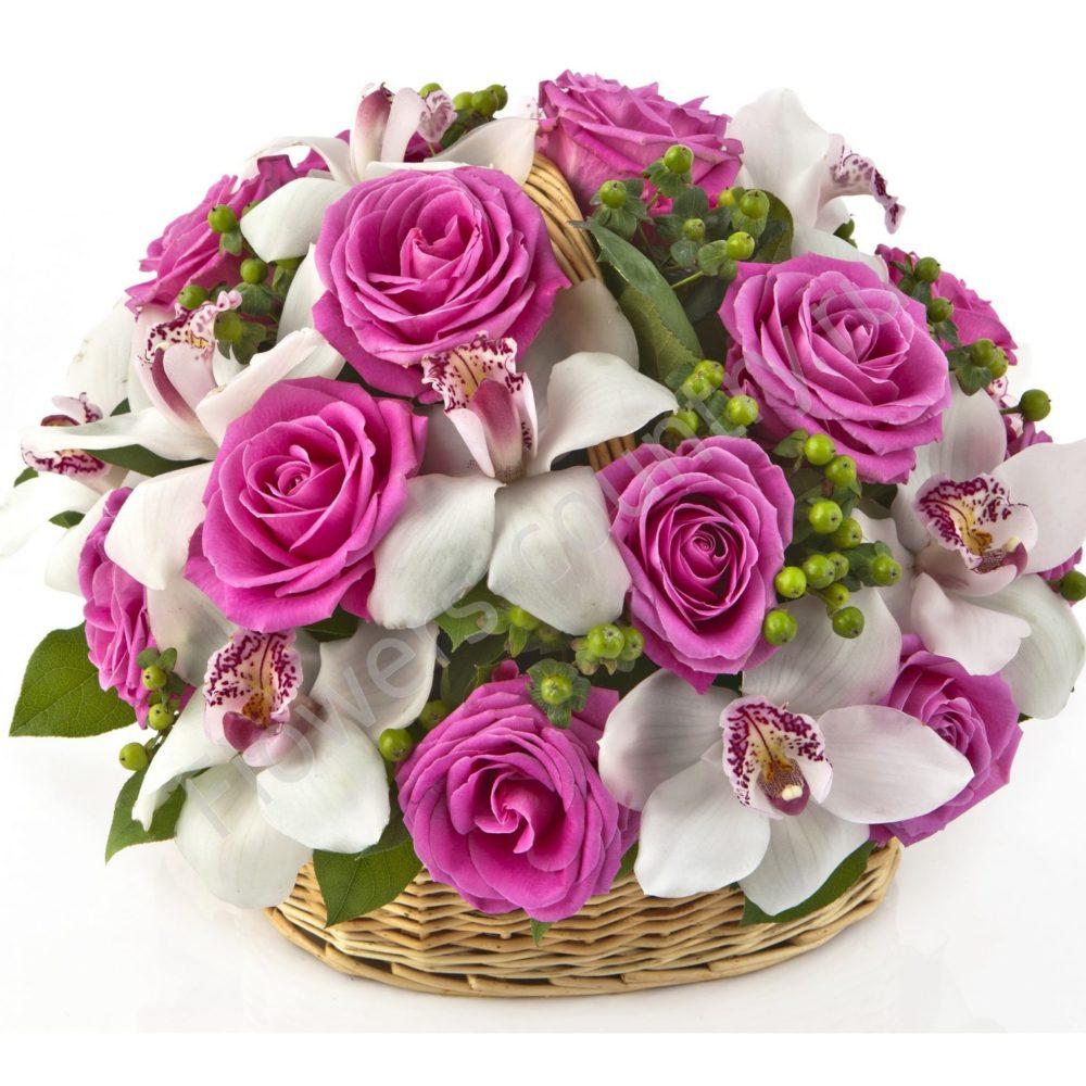 Букет из роз и орхидей