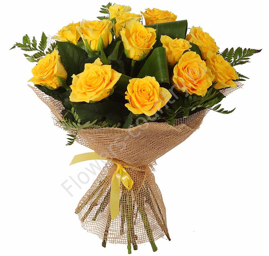 Букет желтых роз «Изящество»