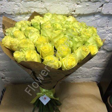 Букет из 51 зеленой розы