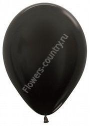 Воздушный шар черный 1 шт.