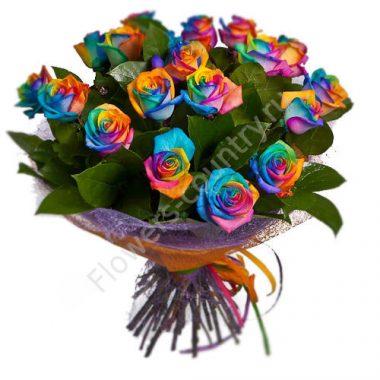 Букет из радужных роз