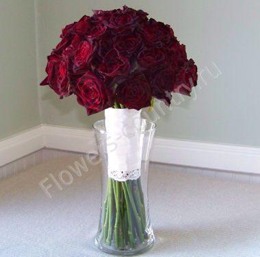 Букет из роз black baccara