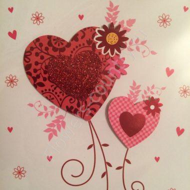 Открытка ручной работы «С любовью»