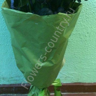 Букет с черными розами