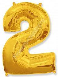 Воздушный шар «Цифра два»