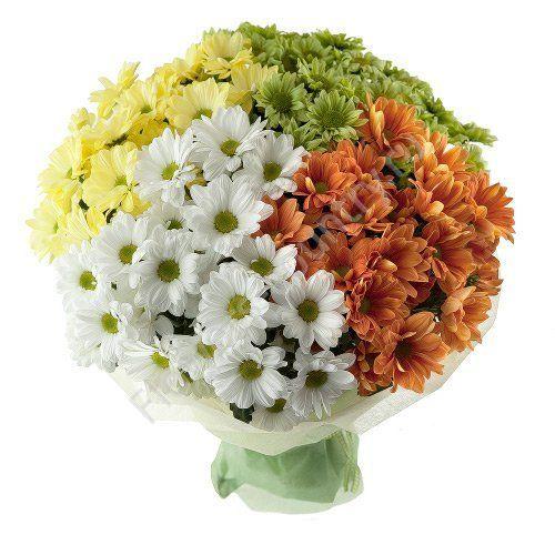 Букет из 13 хризантем