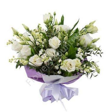 Букет из красивых цветов (с ландышами)