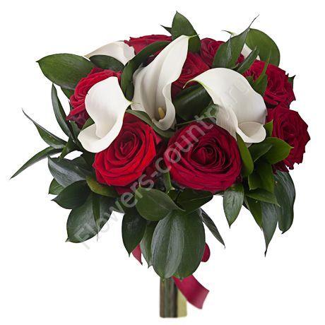 Букет из каллы и розы