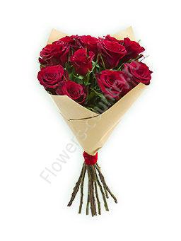 Букет из 11 бордовых роз