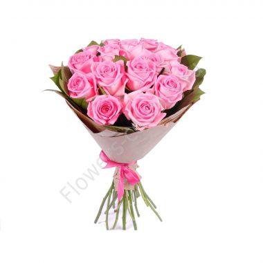Букет из розовых роз «Розовое чудо»