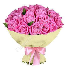 Букет 19 розовых роз «Розовое облако»