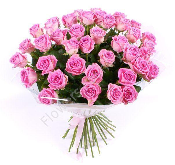 Большой букет с розовыми розами