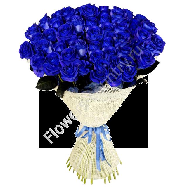 Букет из 51 голубой розы