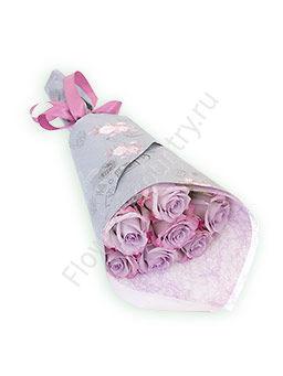 Букет из 7 сиреневых роз