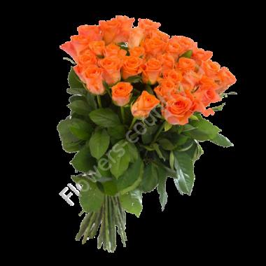 Букет с оранжевыми розами