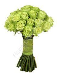 Букет из зеленых роз