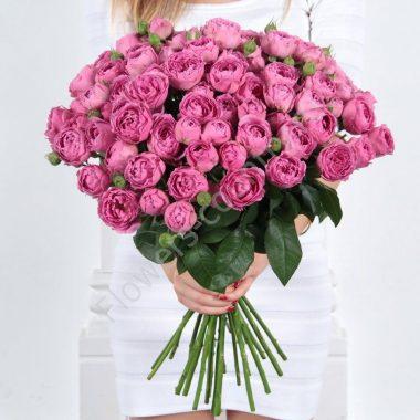 Букет из 19 роз (розовый)