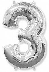 Воздушный шар «Цифра три»