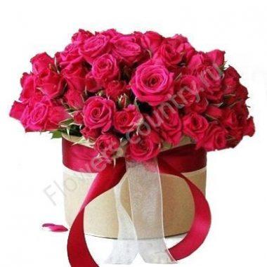 Букет из 101 розовых роз в коробке