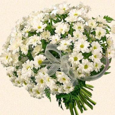 Букет из 19 кустовых хризантем