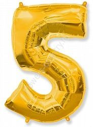 Воздушный шар «Цифра пять»