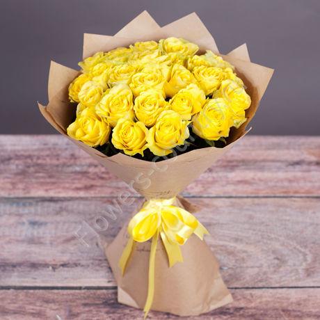 Букет желтых роз «Магия солнца»