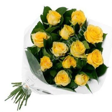 Букет с красивыми желтыми розами