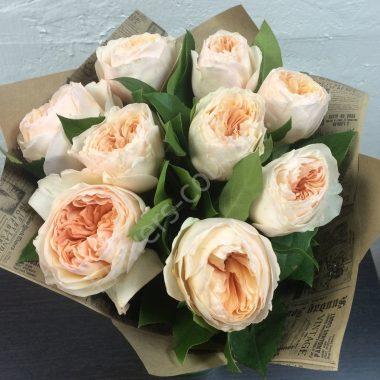 Букет из 9 пионовидных роз