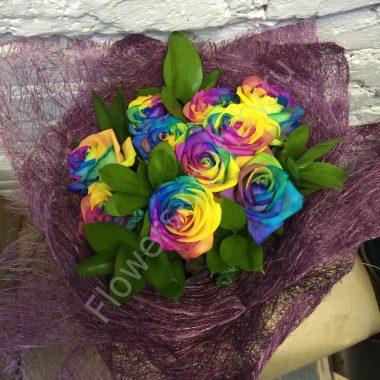Букет из роз (радужных)