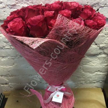 Букет из 51 розы «Черри о»