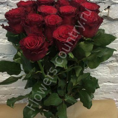 Букет из розы (бордовой)