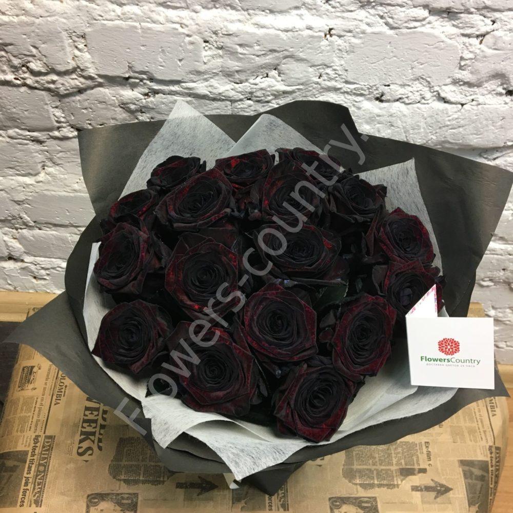 Букет из роз черных