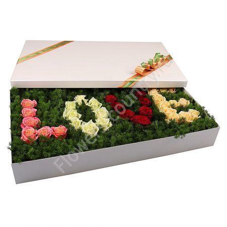 Букет в коробке LOVE