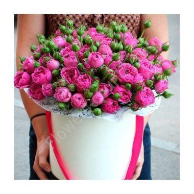 Букет из роз сиреневых