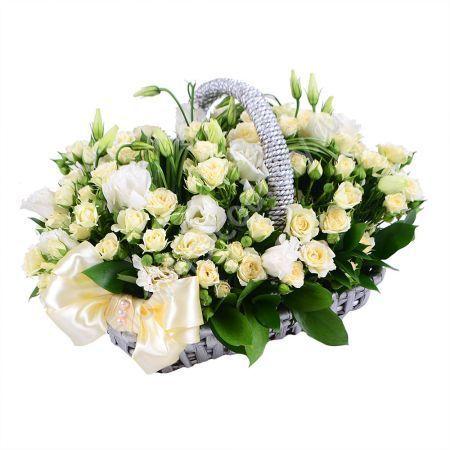 Букет в корзине невесте
