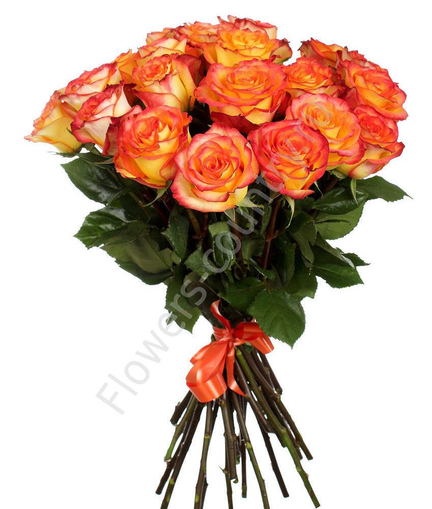 Букет оранжевых роз циркус