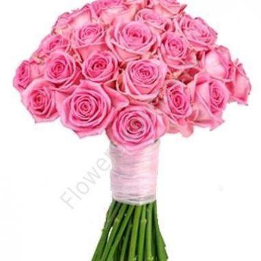 Букет из розовой розы