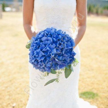Букет невесты из 9 гортензий