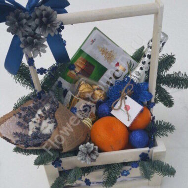 Новогодний набор с лавандой и конфетами