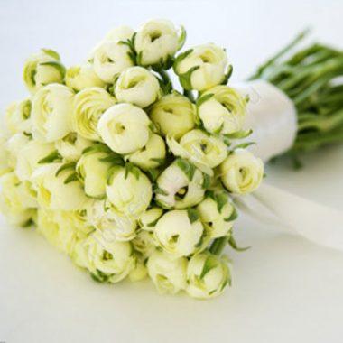 Букет невесты из белых ранункулюсов