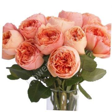 Букет из персиковых пионовидных роз