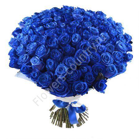 Букет из 101 синей розы