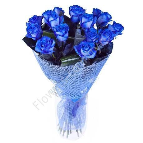 Букет из 15 синих роз