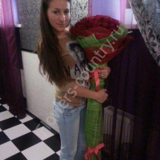 Светлана Букет из 51 Розы, высотой 150 см
